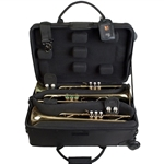 PROTEC IP301TWL TRUMPET CASE - IPAC - TRIPLE - WITH WHEELS - BLACK