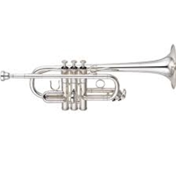 YAMAHA YTR6610S Eb/D Trumpet Professional - Silver Plated .445 Bore - Yellow Brass Bell - 1st, 3rd, and main tuning slide for D included