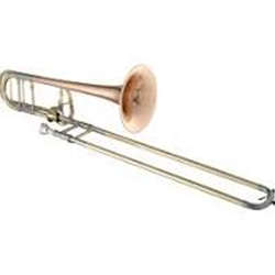 GETZEN 3047AFR TROMBONE - WITH F ATTACHMENT -  LARGE BORE - OPEN WRAP - RED BRASS BELL - LACQUER