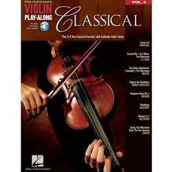 Classical Violin Play Along Volume 3